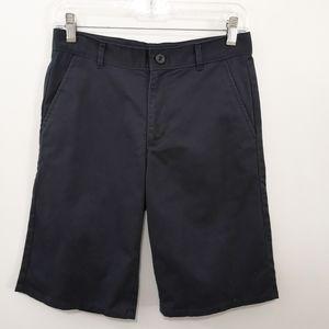 Dockers Navy Flat Front Boys Uniform Shorts 12 Reg